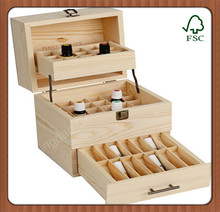 top grade latest design handmade decorative wooden essential oil packing box