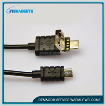 2 in 1 mfi and micro cable with usb ,H0T276 2 in 1 usb data charging cable colorful , data transfer micro usb cable