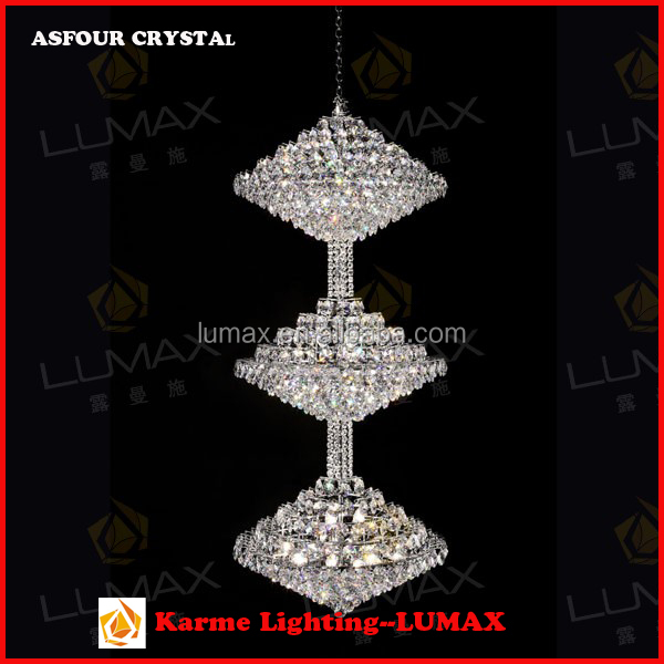 Karme Lumax Lighting Contemporary Modern Crystal Chandelier Candle Lights Fancy Pendant Lamp for Villa, Resort, Hotel, Complex
