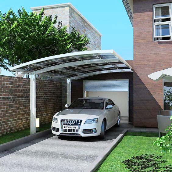 Aluminum Car Parking Canopies and Carport Canopy-glass carport