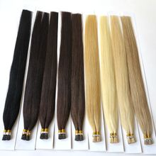 Last 18months 100% virgin remy human hair extensions pre bonded tipped single silk strand 1.5g per strand i tip hair extension