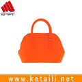 New coming fashion ladies girls mini silicone rubber shoulder tote handbag made in China