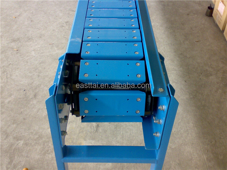 Chain conveyor transporting waste paper & paper pulp plate