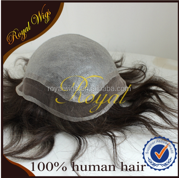 Transparent Skin with Lace Front 100% Human Hair Hair Replacement for Men