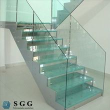 Hot sale clear deck railings tempered glass