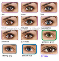 New Arrival~12colors 3-tone beatiful freshlook cosmetic Tri color contact lens