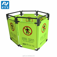 Plastic expandable retractable barricades safety barriers fence in construction