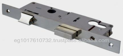 Aluminum Door Lock, Single throw dead-bolt and latch multi backset, Euro cylinder.