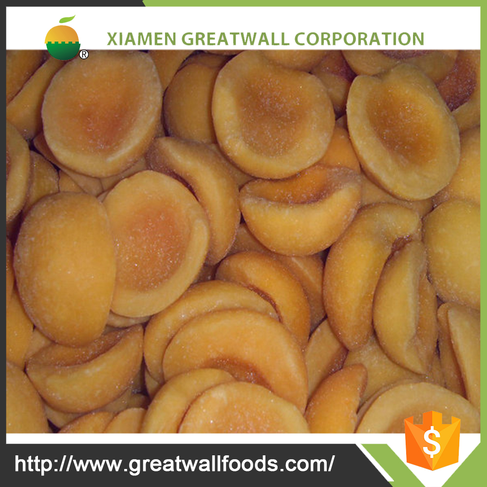 BRC bulk frozen yellow peach