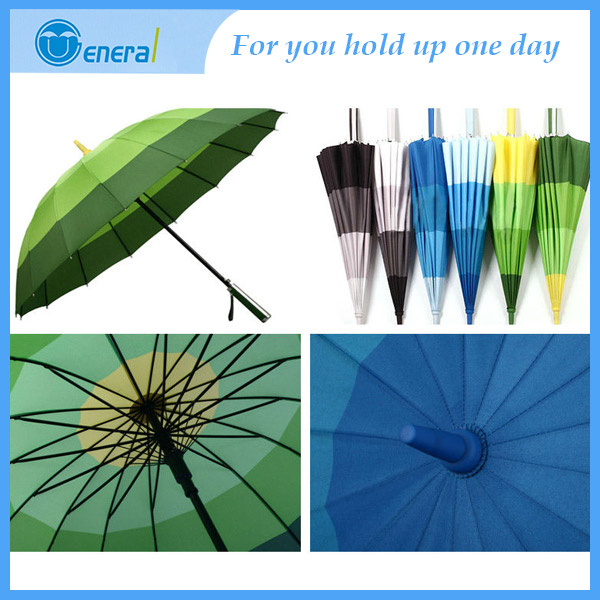 popular design bright colored 16k golf umbrella from shangyu suplier