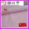 100% Cotton red pinstripe white fabric for men shirt