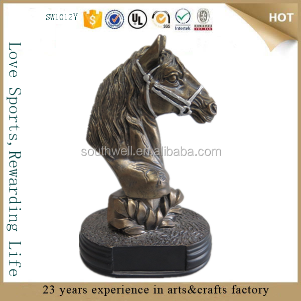 wholesale resin horse head sculpture