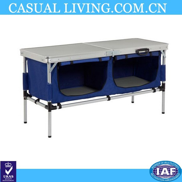 Large Camping Table with Cupboard