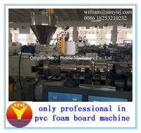 PVC plastic recycled construction/door/floor/furniture/advertising/decoration crust foamed board/sheet machine/extruder