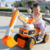 New products 2019 present plastic pedal car truck digger ride on toys tractor kids for gift