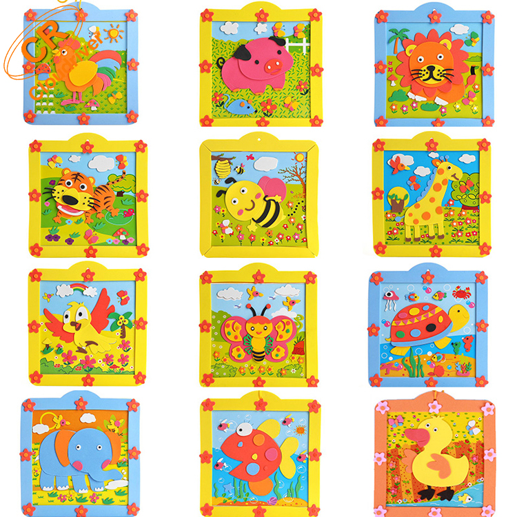 High Quality Animal DIY EVA Photo Frame For Kids