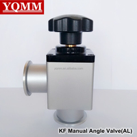KF16 high vacuum manual angle valve (AL)