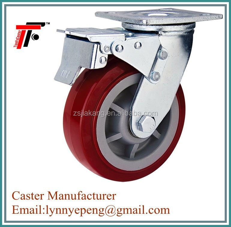 450kg load capacity Swivel pu wheel ,plastic wheels ,wheel caster