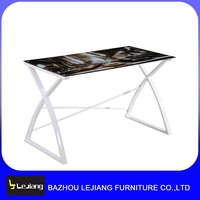 modern long tempered glass computer desk side table