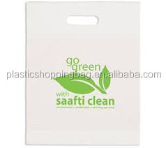 Cheap Wholesale Custom Printed Plastic Die Cut Shopping Bag
