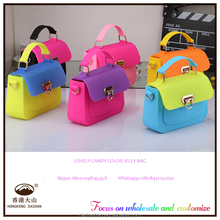 AWW35 China Factory Wholesale Jelly Candy Color Bags Woman Silicone Women's Bag