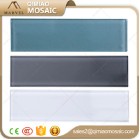 Crystal White Brick Shape Price For Glass Mosaic Tiles