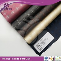 High quality Polyester/viscose Tr Lining jacquard for bag/garment lining fabric
