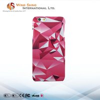 Pink color crystal design cellphone case for iphone 6s