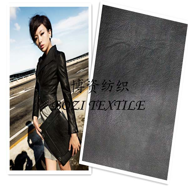 Newest PU garment leather stretch PU leather for pant