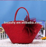 wholesale mexico fashionable natural wheat straw bag 2013