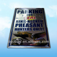 wholesale custom embossed Decorative tin signs