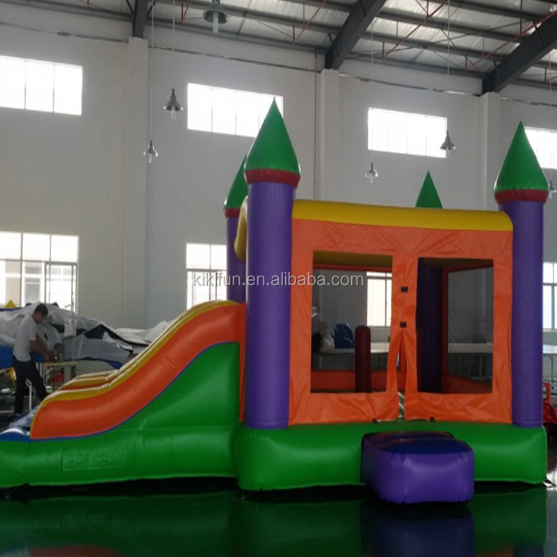 Small size kids inflatable bouncy castle with water slide for sale