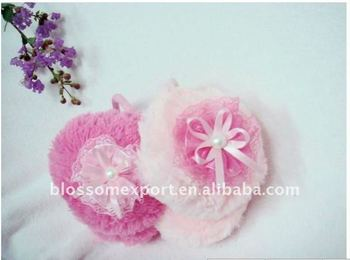 Hot winter baby ear warmer with bowknot