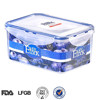 China Wholesale Promotional Gift: Rectangular BPA Free PP Plastic Clear Food Container with Lid 1200ML
