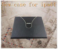PU Leather case for ipad 3 leather case stand/ case for ipad4 cover