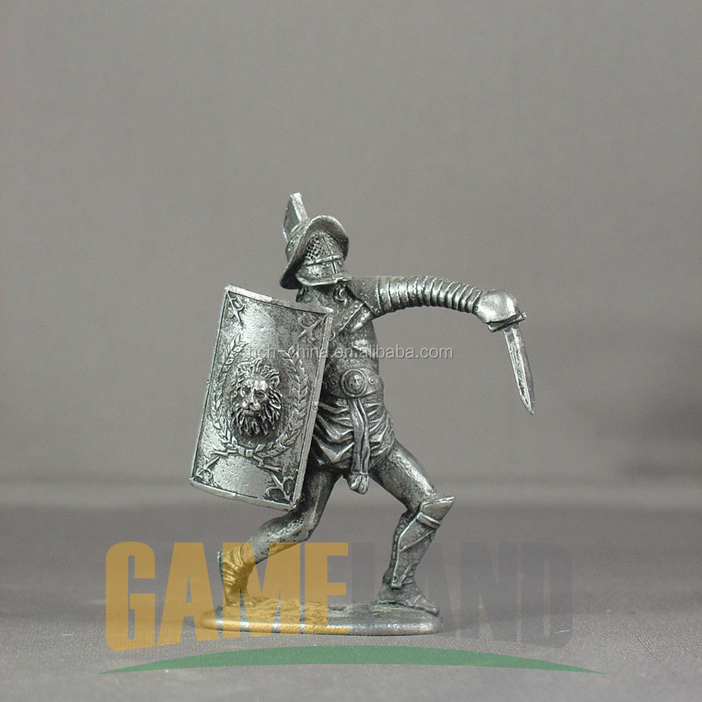 Roman Gladiator For Board Games Pieces Acessories Components Miniature Metal Figures