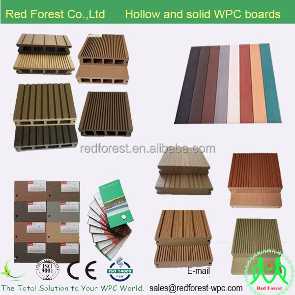 Water resistance WPC flooring High quality CE ISO ASTM certificate Wood plastic decking