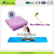 Foldable microfiber fabric sports personal floor softable nonslip yoga towel