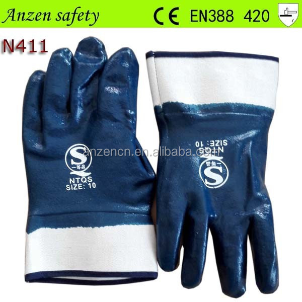 china nitrile industrial glove printed logo with best price
