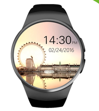 Full Display Round IPS Screen LCD MTK2502C BT4.0 Smart Watch Phone KW18