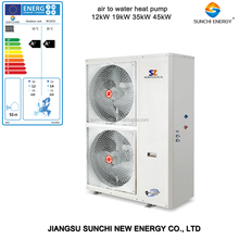 Europe market cold -20C winter floor heating 200sq Meter house+DHW 12kw/15kw/19kw no ice scroll compressor r410a evi heat pump