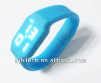 2014 New arrival silicone digital watch with 8GB usb flash disk for men,customized logo ad cheap price