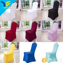 Multicolor universallycra stretch polyester chair cover wedding decoration banquet spandex chair covers for wedding