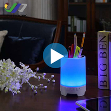 2018 Hot selling bedroom decoration battery operated table lamps with bluetooths speaker