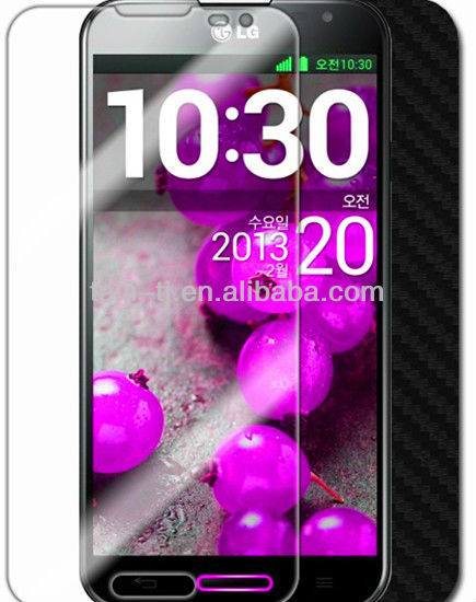 LG Optimus G Pro Silver Carbon Fiber Skin Protector,bubble free,perfect fit,Japan PET material