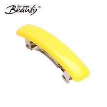 4.3CM Simple Solid Colorful strong holding Plastic Hair Barrette