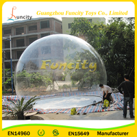 2016 Customized bubble tent high quality PVC material/inflatable bubble tent for advertising/exhibition