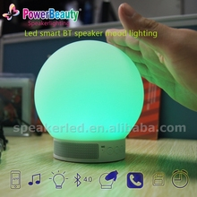 2015 Bluetooth 4.0 Smart LED Light with Speaker 3W RGB Lamp app Remote Control and Time Clock