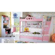 Pink Funky Kids Bunk Bed With Storage B301