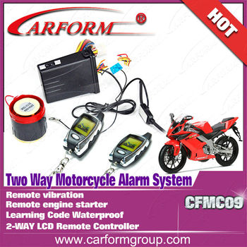 LCD remote controller alarm system motorcycle